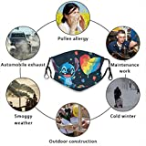 Stitch Outdoor Mask,Protective 5-Layer Activated