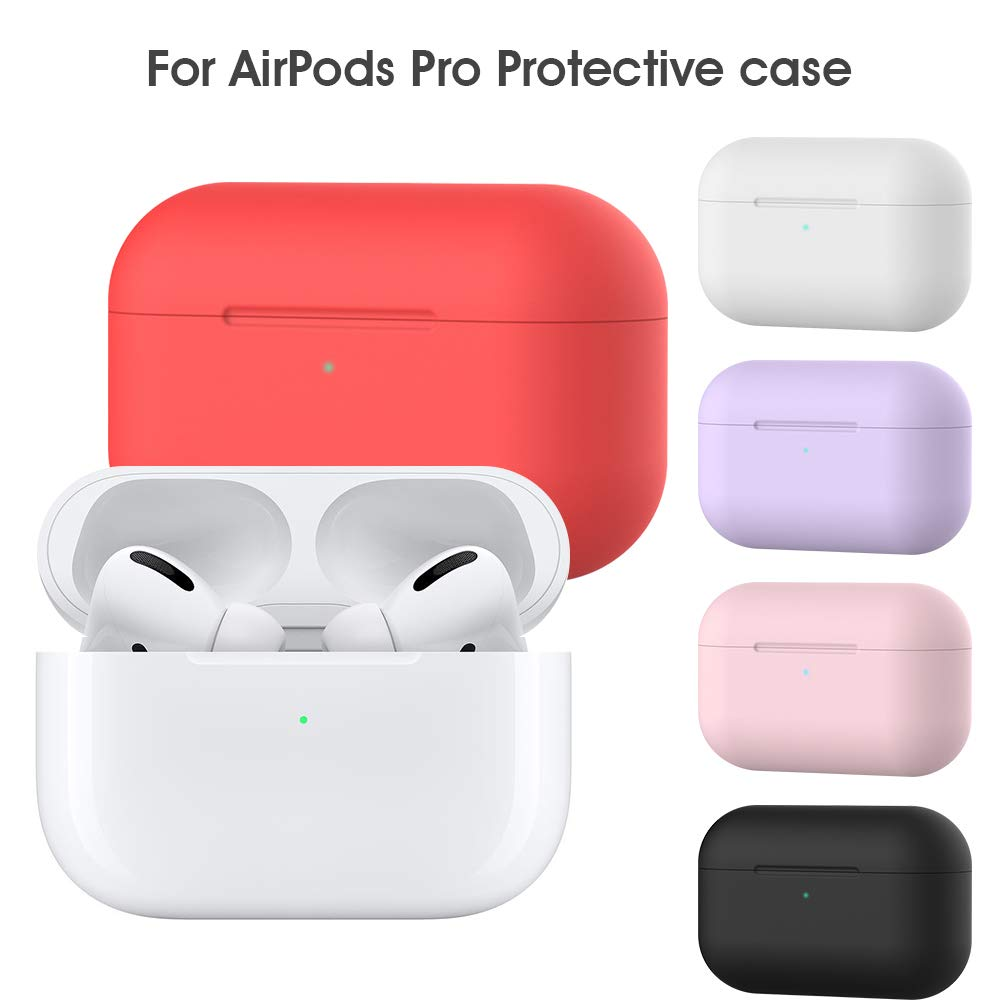 Airpods Pro Protective Case Pink yrfklx 2019 New Airpods Pro Accessories Skin Cover Full Protective Silicone Case Scratch Proof Shockproof Case for Apple Airpod Pro Charging Case