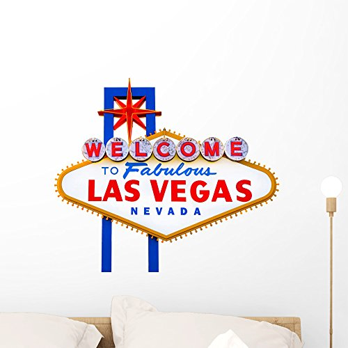 Wallmonkeys Welcome to Fabulous Las Vegas Sign Wall Decal Peel and Stick Graphic WM79025 (24 in W x 19 in H)