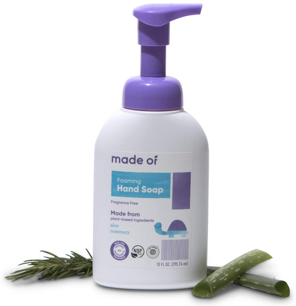 Organic Hand Soap by MADE OF - Dermatologist and Pediatrician Tested - NSF  Organic and EWG