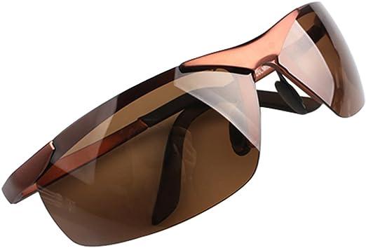 Broadfashion Herren Polarisierende Polarisiert Sonnenbrillen Motorradbrille Bikerbrille Polarisierende Braun Bekleidung