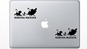 Hakuna Matata HenryDecal5550634 Set Of Two (2x) , Decal , Sticker , Laptop , Ipad , Car , Truck