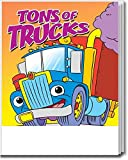 tons of Trucks Kid's Coloring and Activity Books in Bulk (25 Pack)
