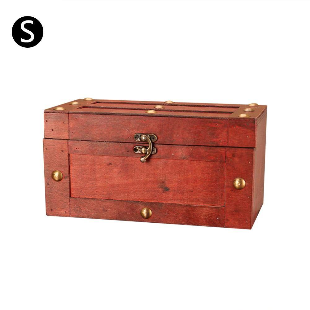duhe189014 Caja De Almacenamiento del Cofre del Tesoro del Candado 30x16x16cm