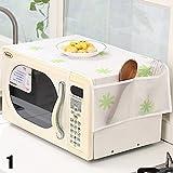 WXLAA Microwave Oven Dust Cover Plastic Flower Waterproof Oil...