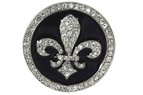 [Crystal Black Enamel Fleur de Lis Statement Ring] (Gothic China Doll Costume)
