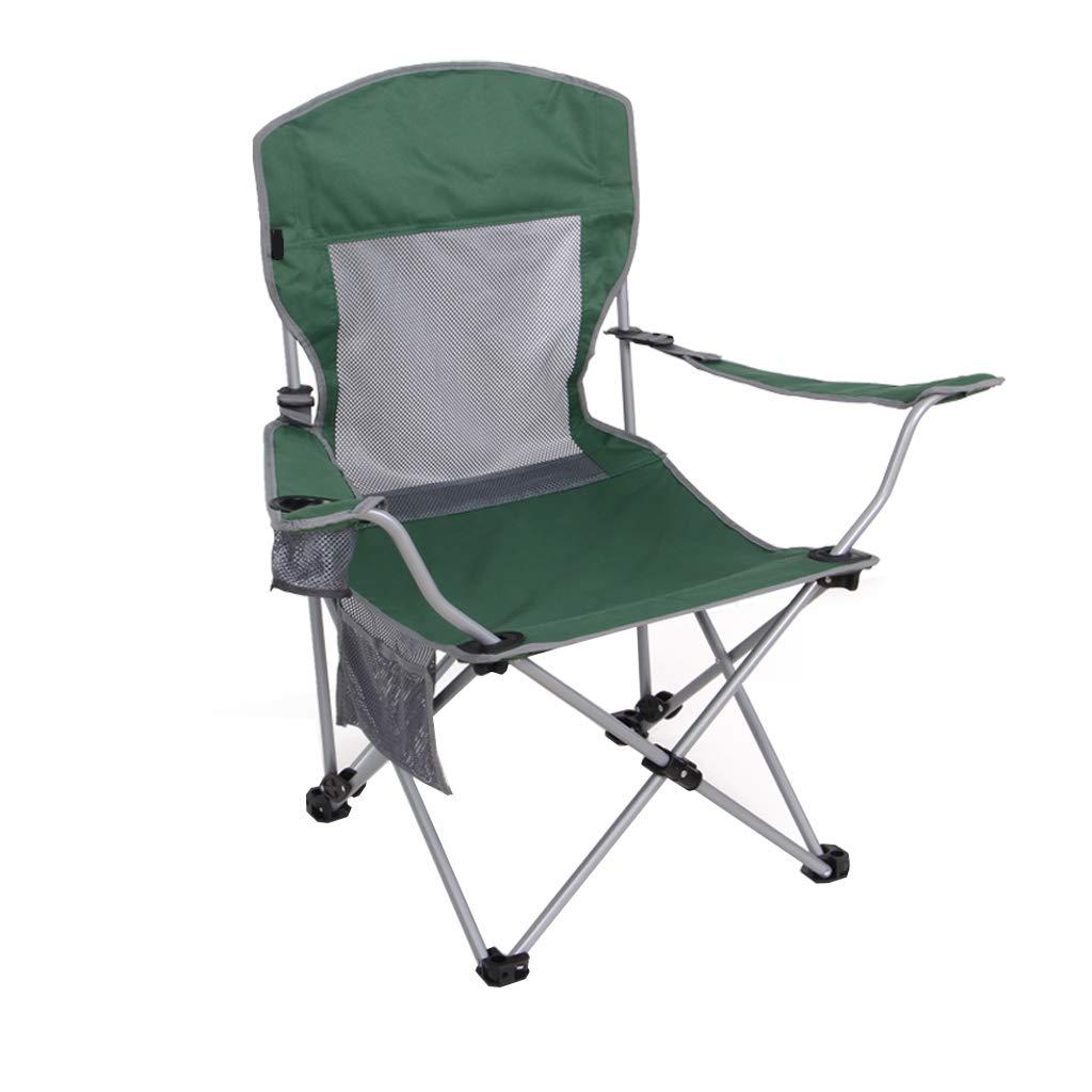 HYXI-Silla Plegable Silla Plegable, sillón, Caminante al Aire Libre Playa Pesca Camping Sketch Silla/Verde / Carga máxima120kg