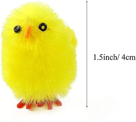 Mignon Pâques Poussins suspendu en feutre décoration de Pâques jaune oiseaux
