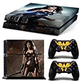 FriendlyTomato PS4 Console and DualShock 4 Controller Skin Set – Super Hero WW- PlayStation 4 Vinyl For Sale