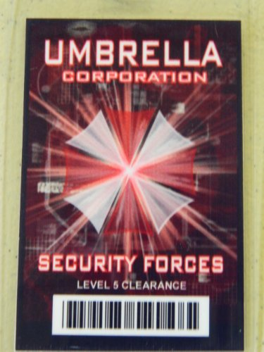 HALLOWEEN COSTUME MOVIE PROP - ID Security Badge Umbrella Corporation (Resident Evil) Security Forces ()