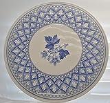 SPODE BLUE ROOM GERANIUM CAKE PLATE 11 3/4