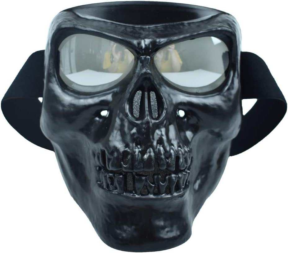 CHCYCLE Motorcycle Helmet Goggles Face Mask Detachable black