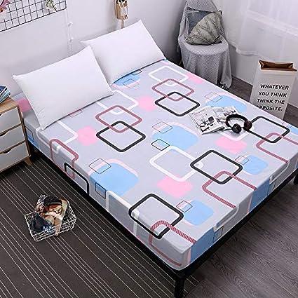 SUYUN Protector de colchón - Microfibra - Antiácaros - Transpirable - Funda para colchon,Poliéster Estampado Caiyun Pavilion 180X200cmX25cm