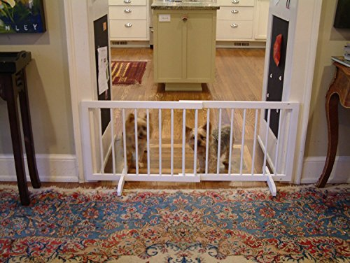 Domestic Pet Gates White Step Over Pet Gate - Oak Mall White