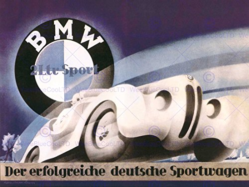 ADVERTISEMENT BMW SPORT CAR GERMAN 30X40 CMS FINE ART PRINT POSTER - Guaranteed Next Royal Mail Day