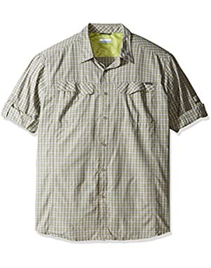 Men's Big-Tall Silver Ridge Plaid Long Sleeve Shirt, Voltage, 2XT