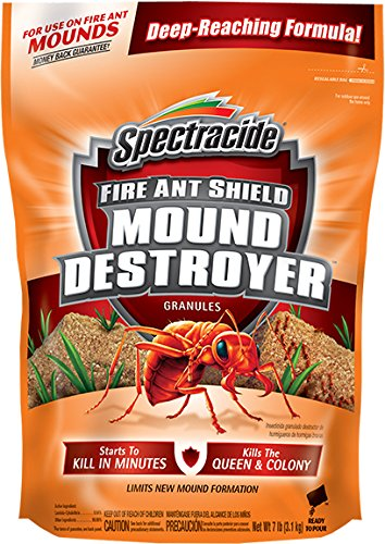 (Spectracide 96471 HG-96471 Fire Ant Shield Mound Destroyer Granules, 7 lb, 1-PK )