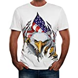 Printed T Shirt Bags,Fashion Mens Letter Splicing Printing Shirt Short Sleeve T-Shirt Blouse Tops,White,XL