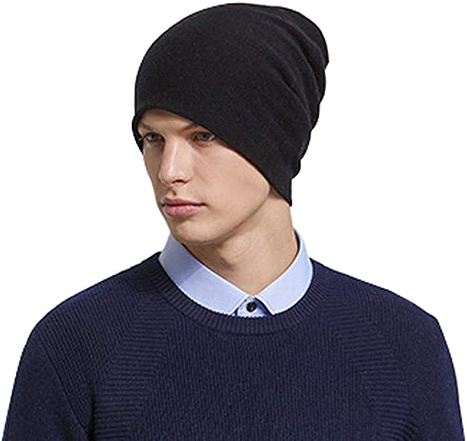 1,3 pk Men Women Skull Warm Hat Foldable Beanie Knit Ski Hat Plain Solid Cap LOT
