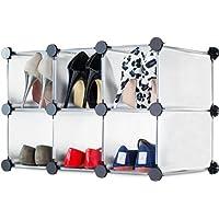Andrew James Shoe Rack/Storage Organiser With Interlocking Compartments