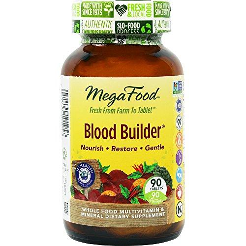 MegaFood - Blood Builder, Energy Boosting Iron Supplement, 90 Tablets (FFP)