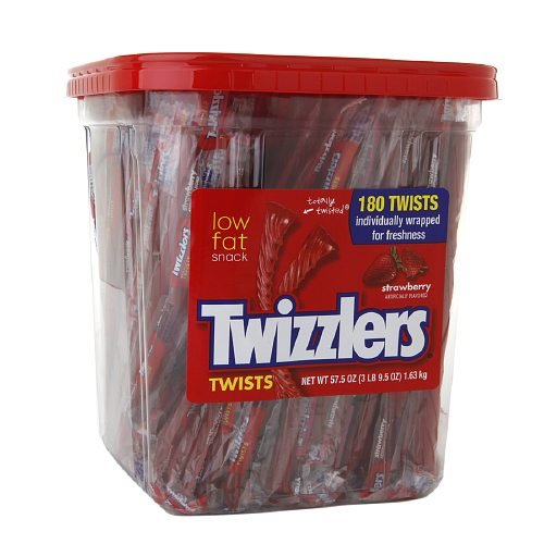 Twizzlers Twists Canister, Strawberry 57.5 oz(Pack of 2)