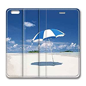 Brain114 6 Plus, iPhone 6 Plus Case, iPhone 6 Plus 5.5 Case, Beach And Sea Of Hawaii PU Leather Flip Protective Skin Case for Apple iPhone 6 Plus 5.5