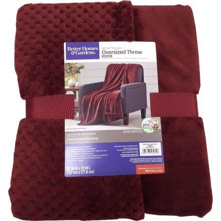 Burgundy Velvet Plush Oversized Throw Blanket 50 Inches X 70 from Better Homes & Gardens