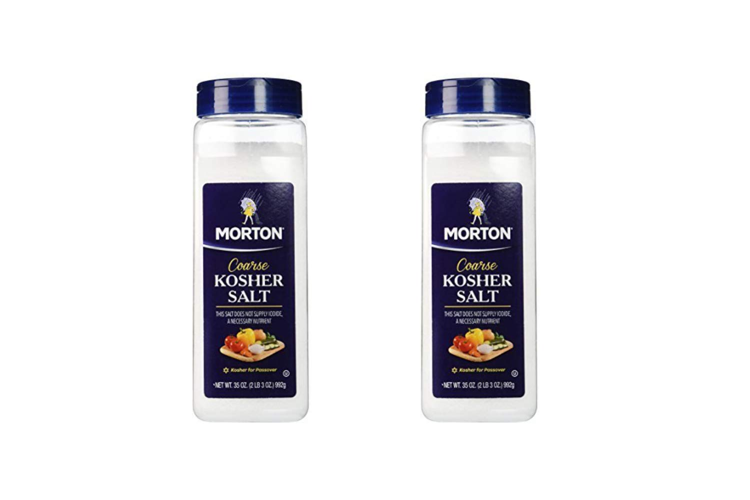 Morton Coarse Kosher Salt 35 oz. by Morton Salt (2 Pack)