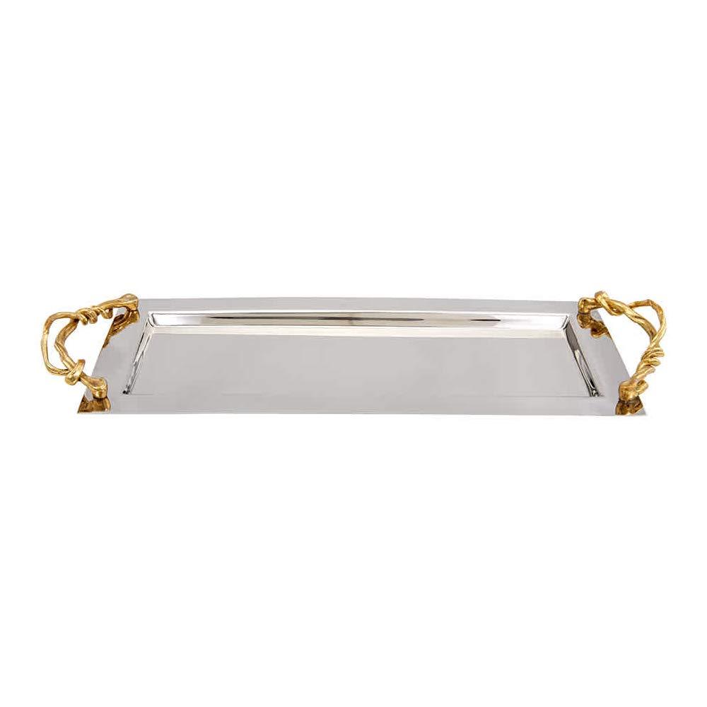 Michael Aram Wisteria Gold Vanity Tray 17.5'' L x 7'' W x 1.5'' H;