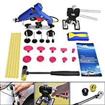 Super PDR® New 23pcs Car Body Dent Repair Removal Dent Lifter Hand Lifter Tool Kits Set Hail Paintless Tab Rubber Hammer Glue Puller