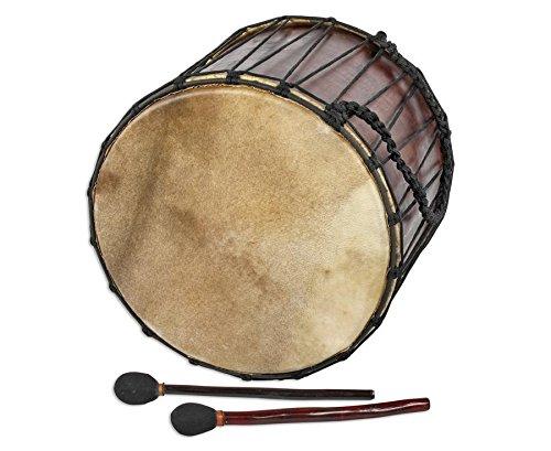 Basstrommel Mahagoni Ø 40 x 45-47cm Ziegenfell incl.2 Sticks Bass Drum Medieval
