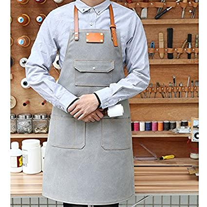 Men Women Fashion Apron Canvas Supermarket Cafe Bar Baking Working Uniform Cheapest Price From Our Site Home & Garden Bbq