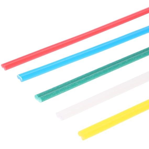 50 varillas de soldadura de plástico de 5 colores con resistencia a la corrosión.: Amazon.es: Bricolaje y herramientas