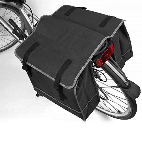 Fahrrad-Doppeltasche für den Gepäckträger mit viel Stauraum