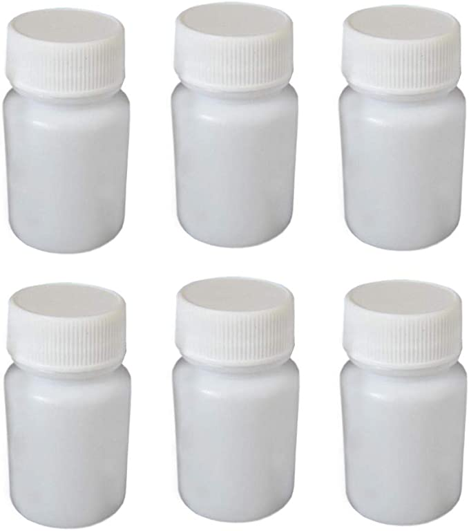 WHOLESALE 50x Empty White Pill Bottles Tablet Capsule Container//Jar//120cc+Seal