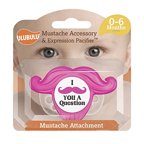 Ulubulu Mustache Accessory Expression Pacifier