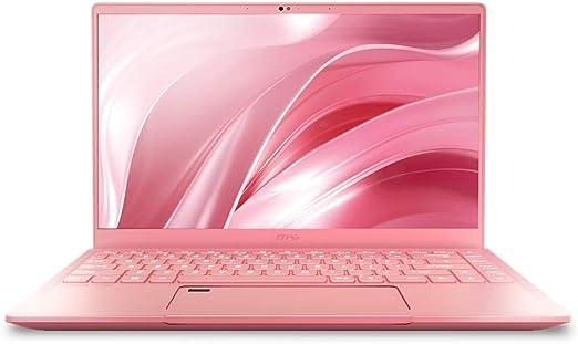 """Amazon.com: MSI Prestige 14 A10SC-091 - 14"""" FHD Display, Intel Core i7-10710U, GeForce GTX1650 (Max-Q) 4GB GDDR5, 512GB NVMe SSD, Win 10 PRO, Pink Laptop: Computers & Accessories"""