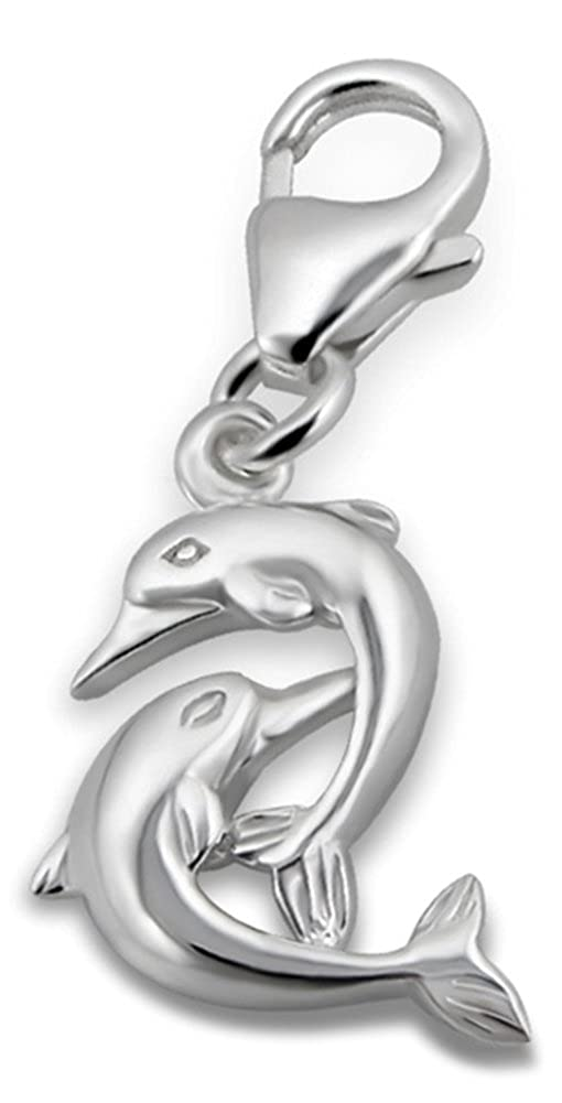 Laimons Damen-Charm Anh/änger Delphin Paar Sterling Silber 925