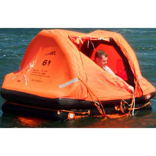 Sea Safe DX06SCR, 6 Person Pro-Light Offshore Self Righting In Container, 1 Pack
