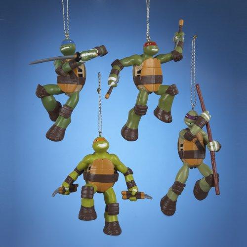 Teenage Mutant Ninja Turtles Blow Mold Ornament Set Of 4