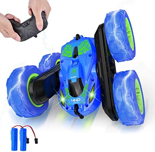 Remote Control Car four wheel drive RC Cars 360° Double Flips Stunt Car, 2.4GHz Remote Control Boys Toys for Kids 5-12 Years Old
