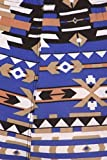 Womens Plus Blue Printed Lined Leggings 51f1wP2DYDL