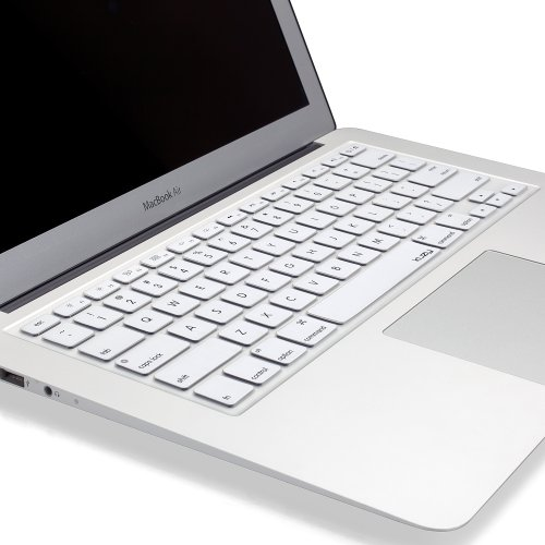 White Macbook Cover : Kuzy white keyboard cover silicone skin for macbook pro