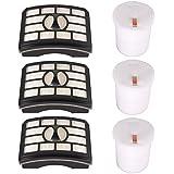 KEEPOW 3 Pack Hepa Filter & Foam Filter Kit Replacement for Shark Rotator Pro Lift-Away NV500, NV501 NV502 NV503 UV560 NV550 NV520