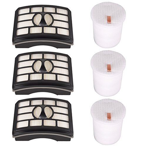 KEEPOW 3 Pack Hepa Filter & Foam Filter Kit Replacement for Shark Rotator Lift-Away Upright NV501, NV502, NV510, NV503, UV560, NV550, NV520, NV500, NV505, NV552, Replaces Part # XFF500 and XHF500