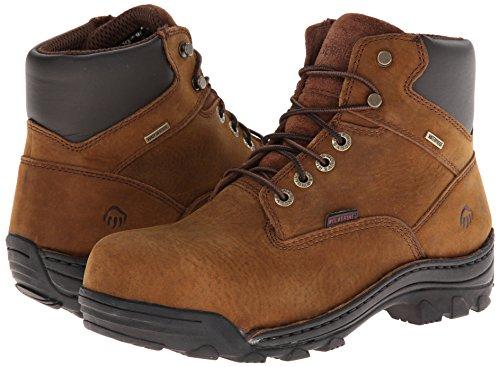 WOLVERINE WORLDWIDE - Durbin Waterproof Work Boots, Medium Width, Brown Nubuck Leather, Men's Size 7