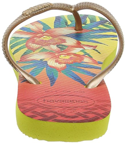 Havaianas HAV. SLIM TROPICAL - Sandalias de goma para mujer Multicolor (Light Yellow 0013)