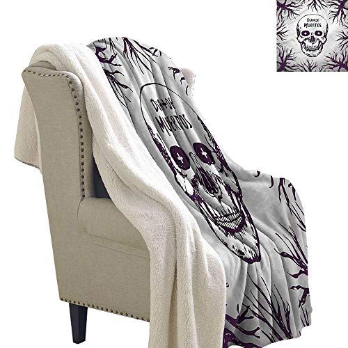 Beihai1Sun Mexican Light Thermal Blanket Spooky Gothic Halloween Fluffy Throw Blanket 60x78 -