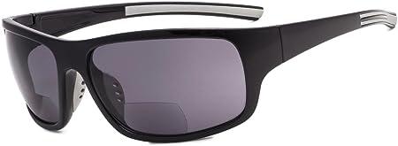 TALLA +1.50. Eyekepper Bifocales Gafas De Sol +1.50 Strength Lectura Gafas De Sol (Brillante Negro Marco/Gris Lente)